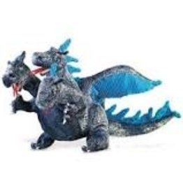 Folkmanis Blue Three-Headed Dragon