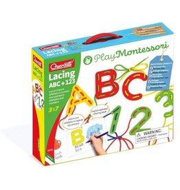 Quercetti Play Montessori Lacing ABC + 123
