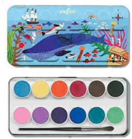Eeboo In The Sea 12 Watercolors