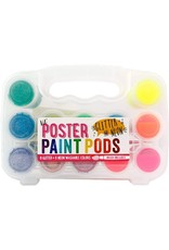 Ooly Lil Paint Pods Poster Paint - Neon & Glitter - Set of 12