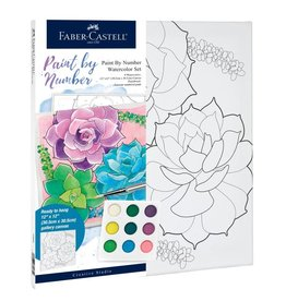 Faber Castell Paint by Number Watercolor Set- Succulents