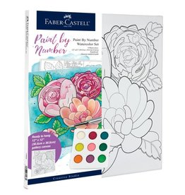 Faber Castell Paint by Number Watercolor Set- Bold Floral