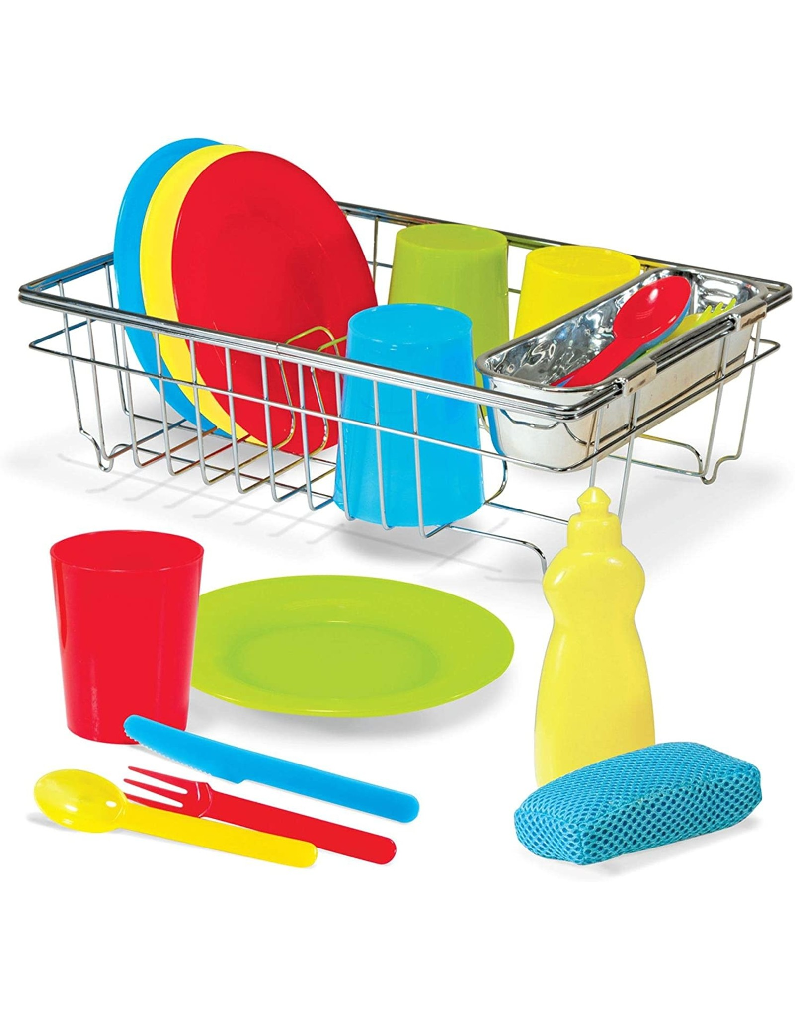Melissa & Doug Wash and Dry Dish Set