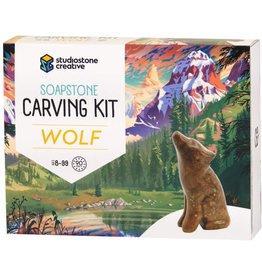 Studio Stone Creative Soapstone Carving Kit Wolf