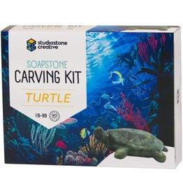 Studio Stone Creative Soapstone Carving Kit Turtle