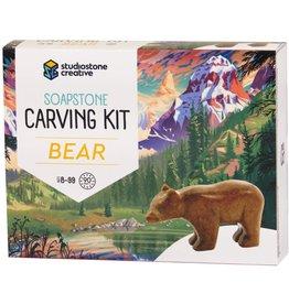 Studio Stone Creative Soapstone Carving Kit Bear