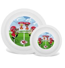 Masterpiece Kansas City Chiefs Plate & Bowl Set