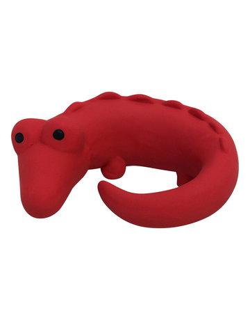 Foufit Foufit animal à mâcher crocodile rouge