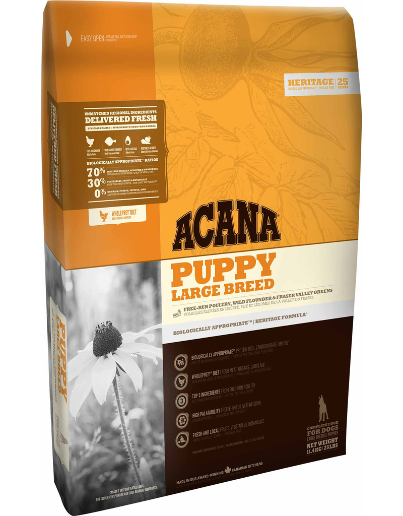 Champion Petfoods Acana chien heritage puppy large breed