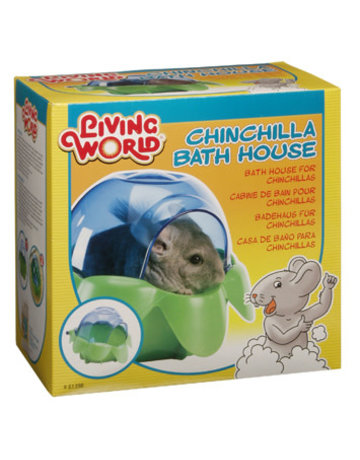 Living World Living World cabine de bain pour chinchillas