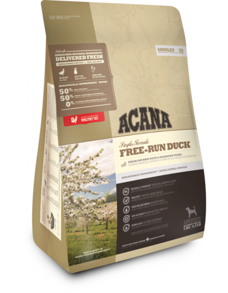 Champion Petfoods Acana chien singles free-run duck