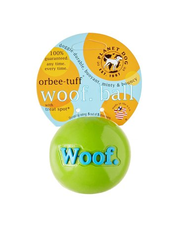 Planet Dog Planet Dog orbee-tuff balle woof verte .