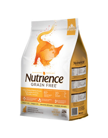 Nutrience Nutrience chat sans grains dinde, poulet et hareng 5.5lbs (4) //