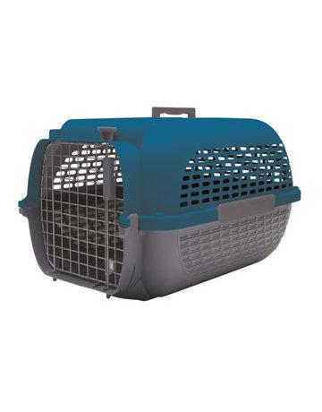 Dogit Dogit Voyageur cage de transport gris/bleu moyen .