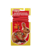 Living World Living World harnais et laisse pour lapin rouge ,