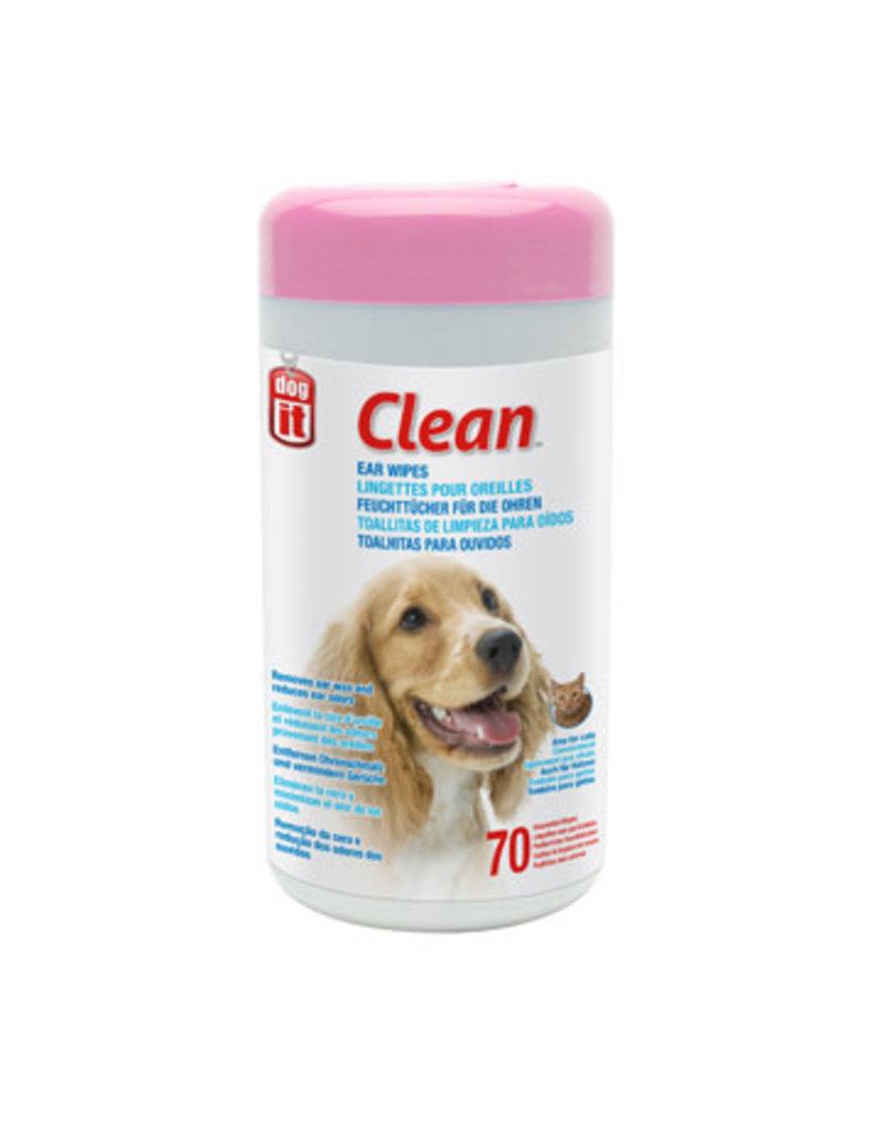 Dogit Dogit clean lingettes non parfumées pour oreilles