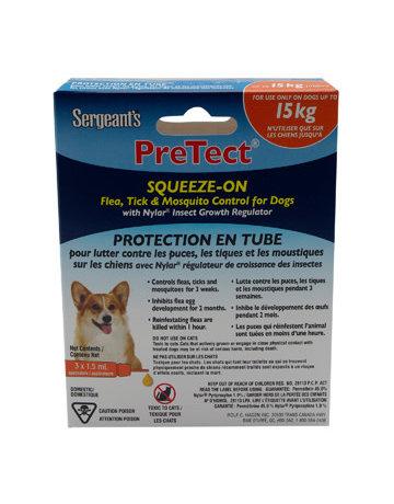 Sergeant Sergeant's protection en tube contre les puces, tiques et moustiques