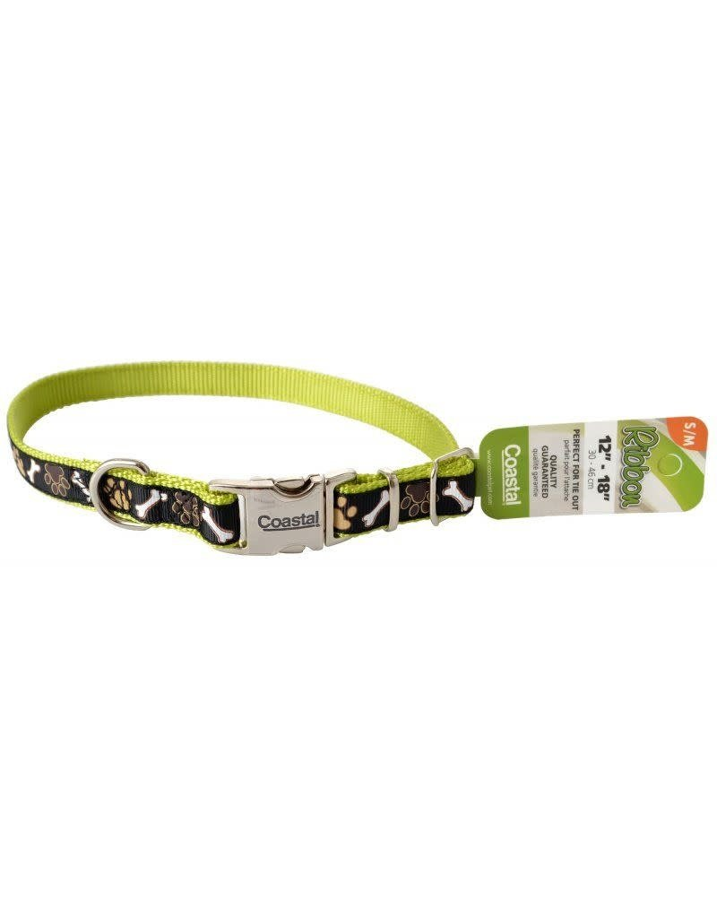 Coastal Coastal ribbon collier noir et vert