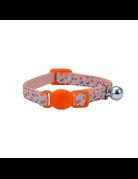 Li'l pals Li'l pals collier de sécurité élastique pour chat triangle orange et bleu