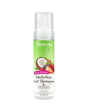 Tropiclean Tropiclean shampooing pour chat en mousse sans rinçage baie et noix de coco 220ml