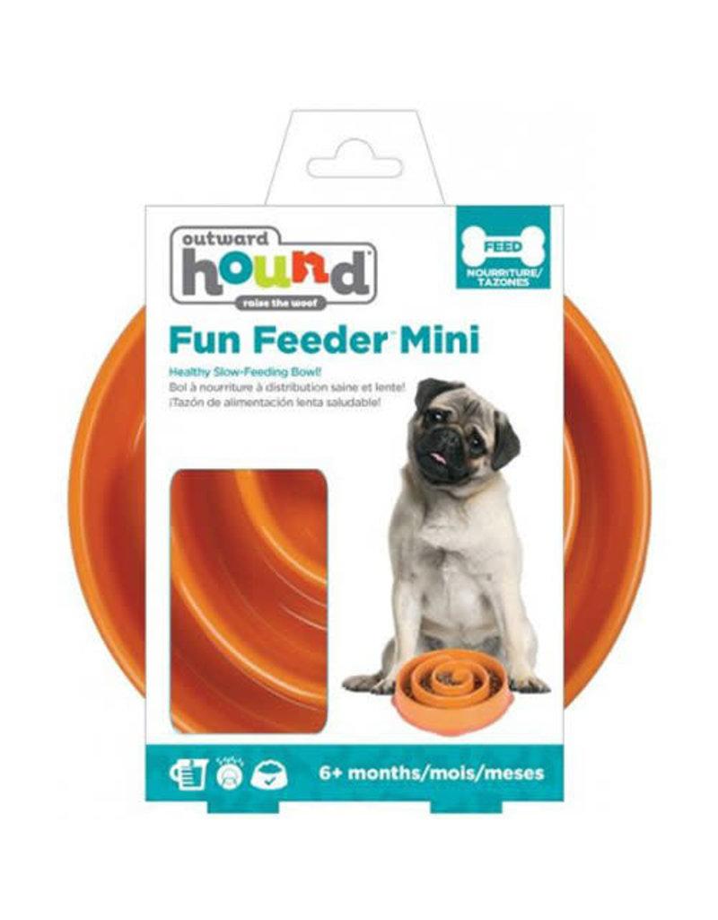Outward hound Outward hound bol swirl orange mini