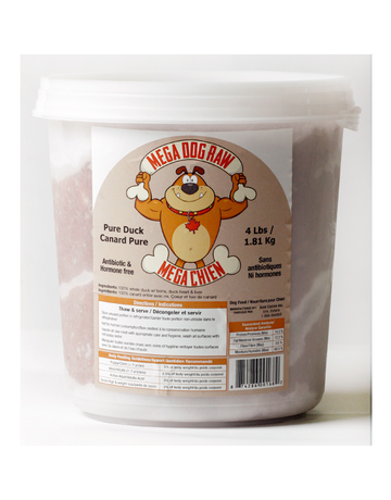 Mega dog raw Mega dog raw chaudière pure canard 4lb //