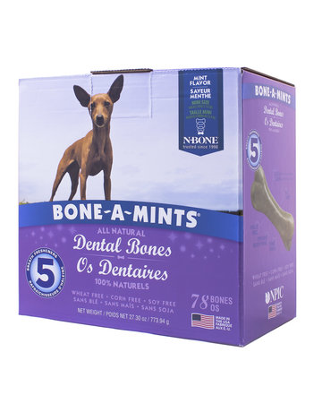 Bone-a-mints Bone-a-mint os dentaire naturel pour chien mini 27.30oz