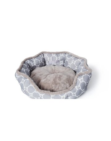 Bud'z Bud'z lit rond avec rebord gris