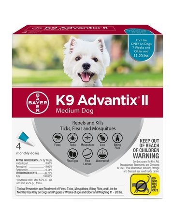 Advantage K9 Advantage II chien de taille moyenne  , .
