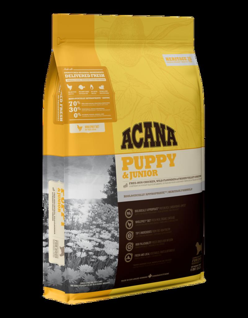 Champion Petfoods Acana chien heritage puppy & junior