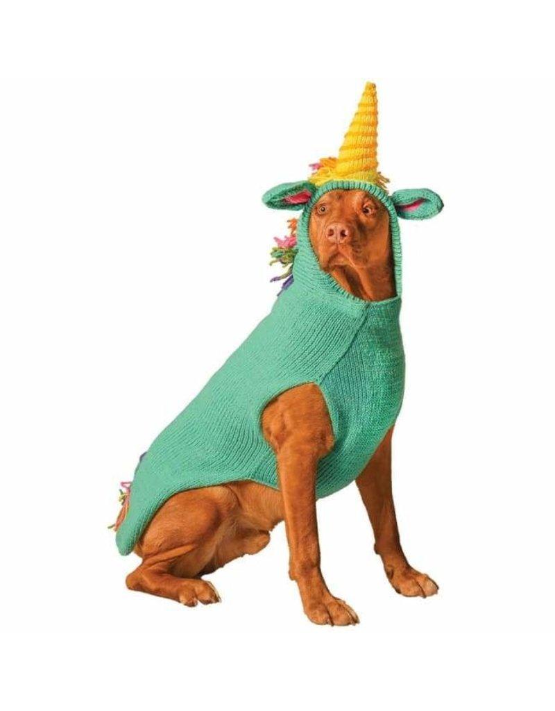 Chilly dog Chilly dog tricot licorne bleu moyen .