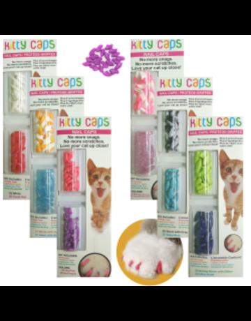 Fetch Kitty caps protège-griffes mauve et vert