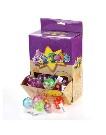 Kane Balle en plastique transparante avec perles pour chats (45)
