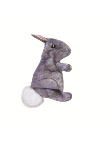 Coastal Turbo jouet réaliste lapin gris