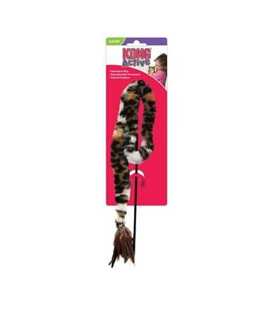 Kong Kong activ baguette pour chat avec plumes léopard