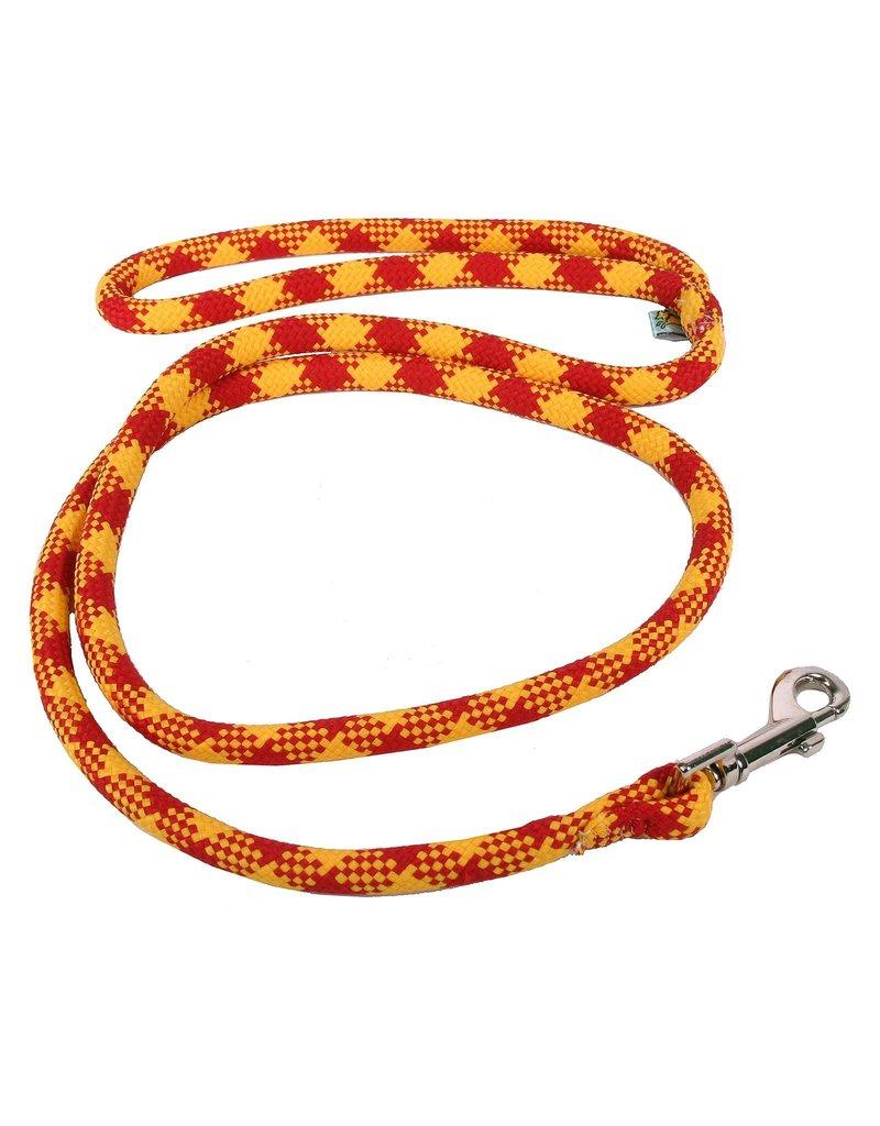 Yellowdog Yellow dog laisse tressée bourgogne et or 3/4''x 5'