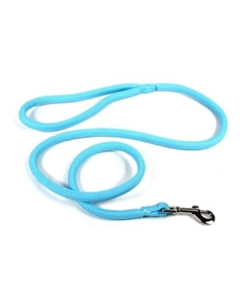 Yellowdog Yellowdog round braided bleu pâle laisse 3/4'' x 60''