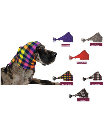 muttluks Muttstuque fleece gris/rouge
