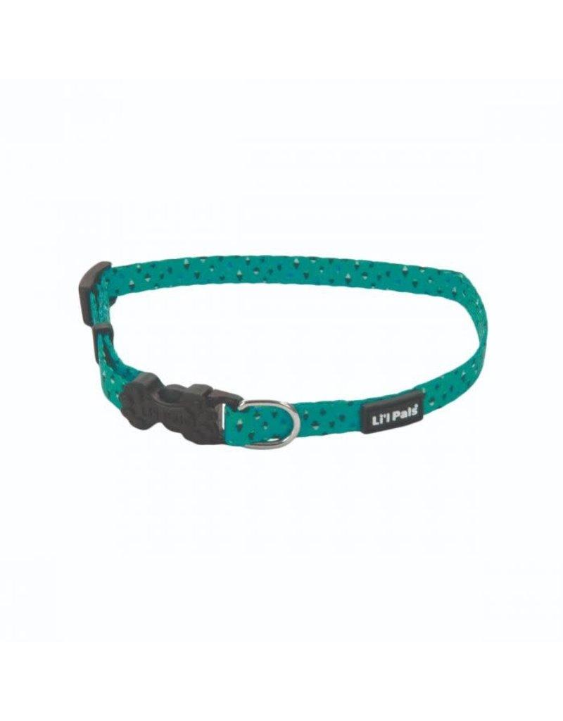 Coastal Coastal li'l pals collar ajustable  6''-8'' vert avec mini losange noir et blanc TGD