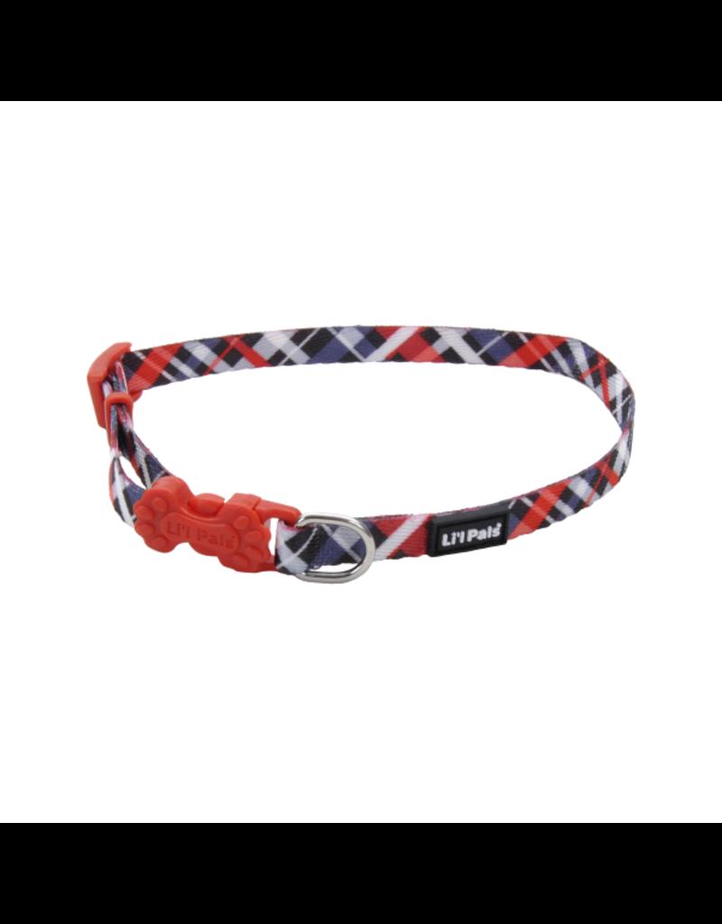 Coastal Coastal li'l pals collar ajustable  8''-12''rouge losange RYP