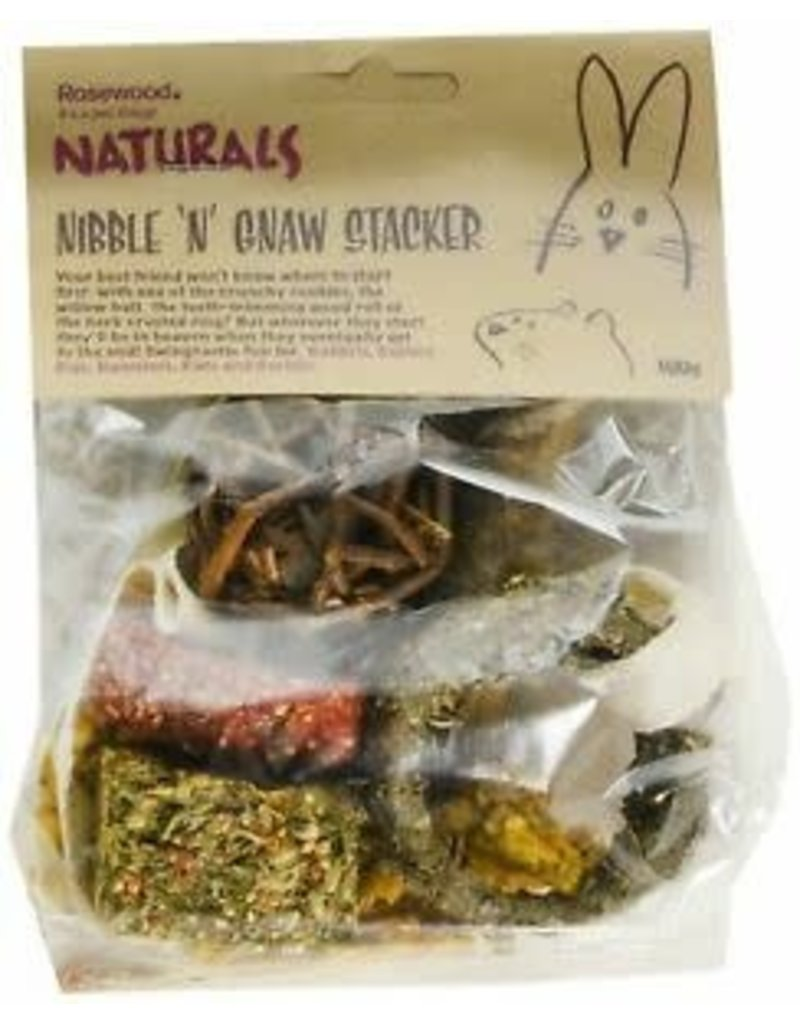Rosewood Rosewood naturals nibble 'n' gnaw stacker  100g (6) //