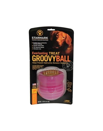 Starmark Starmark everlasting groovy ball dog toy grand