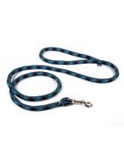 Yellowdog Yellowdog design round braided laisse 60'' brun & turquoise