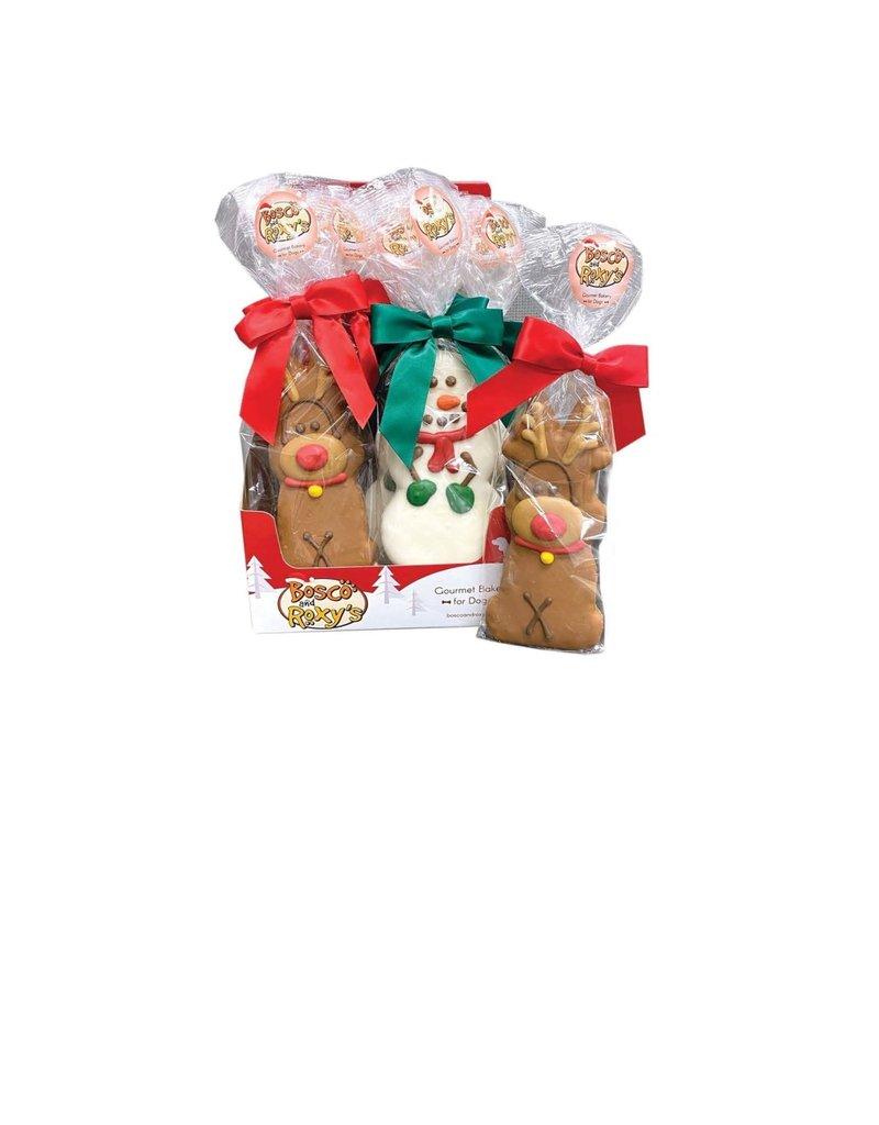 Bosco & Roxy's Bosco & Roxy's emballage rêne et bonhomme de neige (20) ,