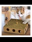 Ware pet products Ware pet products boite à jouet recouvert de seagrass  avec balle et jouet sur bâton//