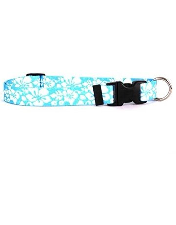 Yellowdog Yellowdog collier ile floral bleu 18''-28'' .