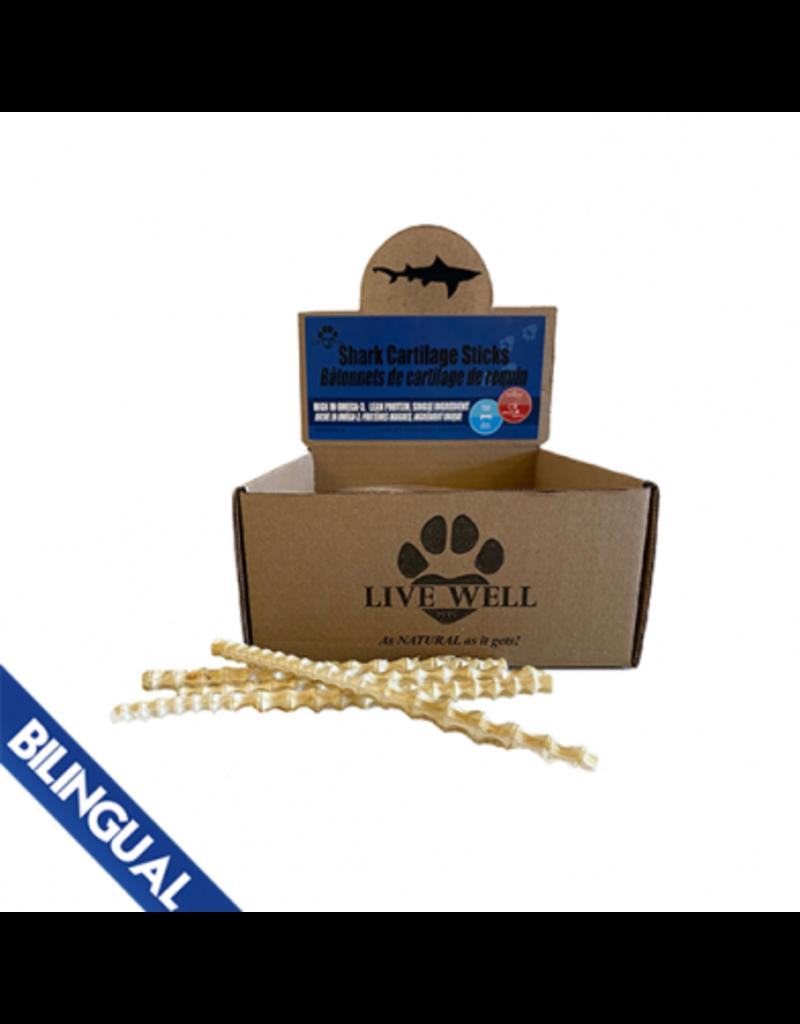 Live Well Pets Live Well Pets bâtonnets de cartilage de requin (60)