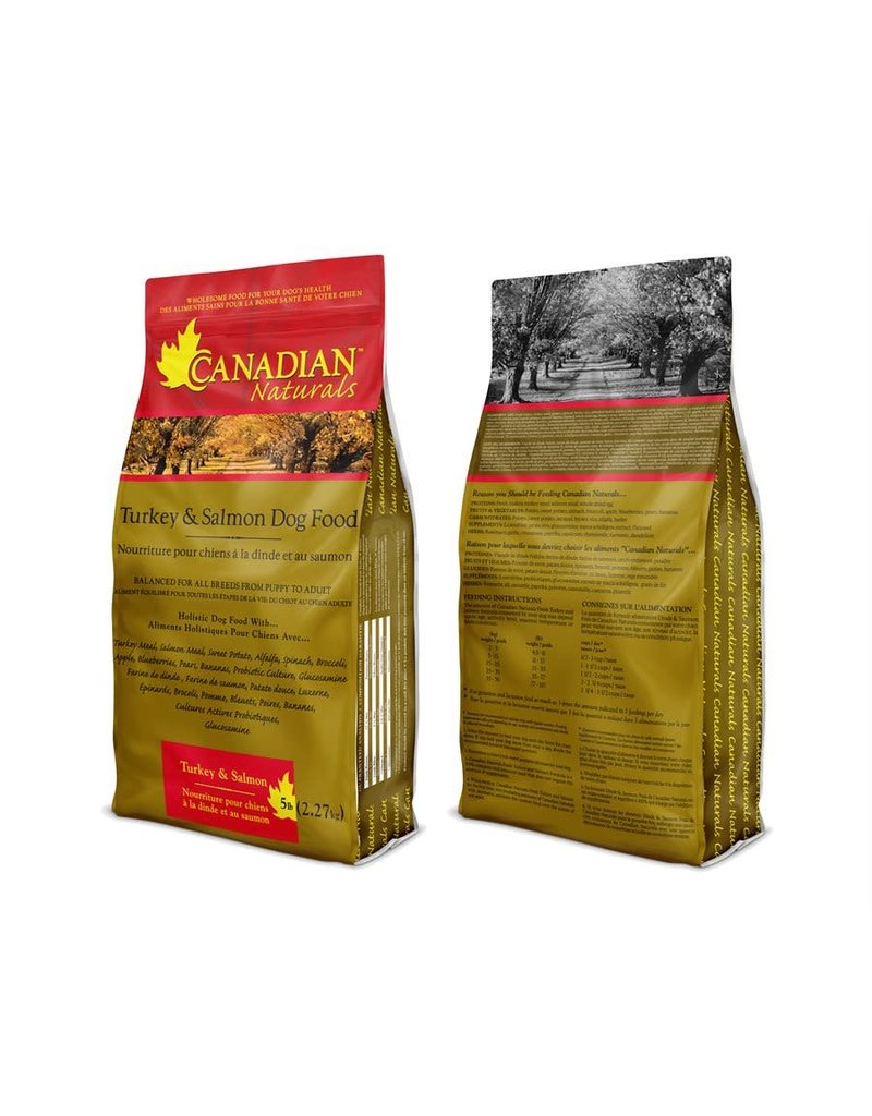 Canadian Naturals Canadian Naturals Chien Toutes Étapes de Vie Dinde & Saumon 30LB --