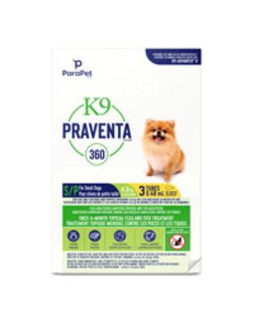 K9 K9 Praventa 360 traitement pour chiens de petites races, 3 tubes  //
