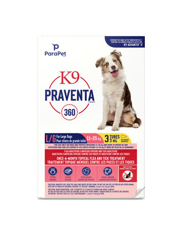 K9 K9 Praventa 360 traitement pour chiens de grandes races, 3 tubes //